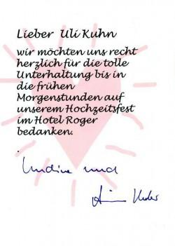 Bewertung Hotel Roger Hochzeit DJ